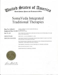 SomaVeda® Trademark Certificate