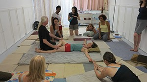 Aachan Dr. Anthony B James teaching SomaVeda® Thai Yoga Class