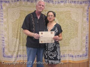 Khruu Mariana Cardoza receives SomaVeda® Thai Yoga Teacher Certificate