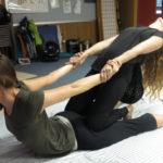 Somaveda® Thai Yoga Massage Therapy Facilitated Cobra yoga posture