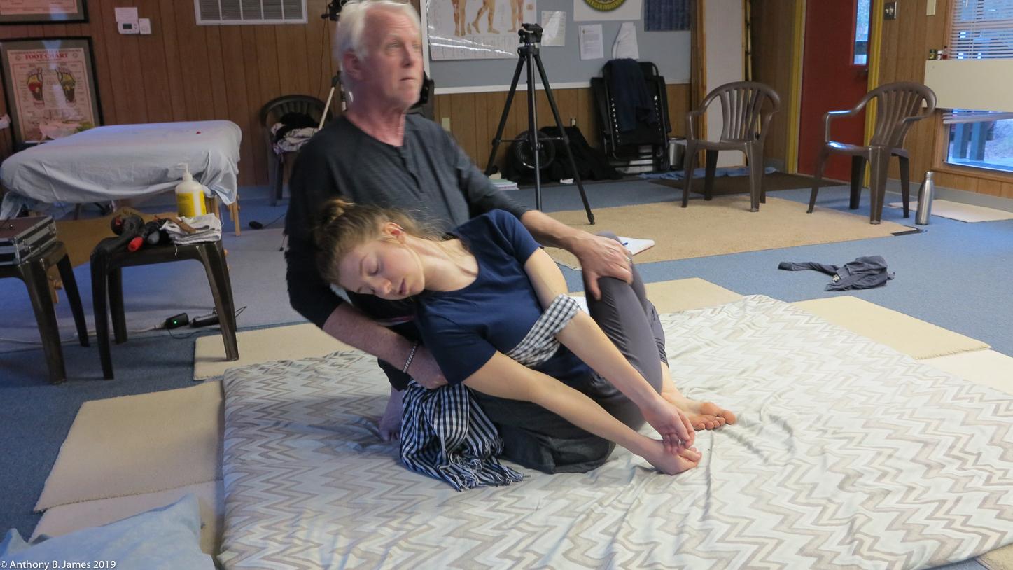 Ajahn, Dr. Anthony B. James teaching SomaVeda® Thai Yoga