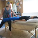 Dr. Maureen Hughes Doing SomaVeda® Thai Table Yoga