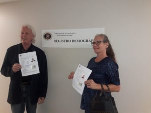 Dr. Anthony and Dr. Julie James receive Celebrante License Puerto Rico September 2019