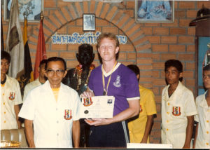 Dr. Anthony B. James, Khruu Buddhai Sawan Institute 1984