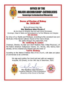 Ajahn Dr. Anthony B. James elected Native Bishop